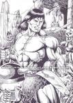 Conan - ink by kiborgalexic