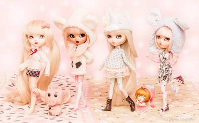 Windie, Jolie, Rosie, Punkie and little Sakura