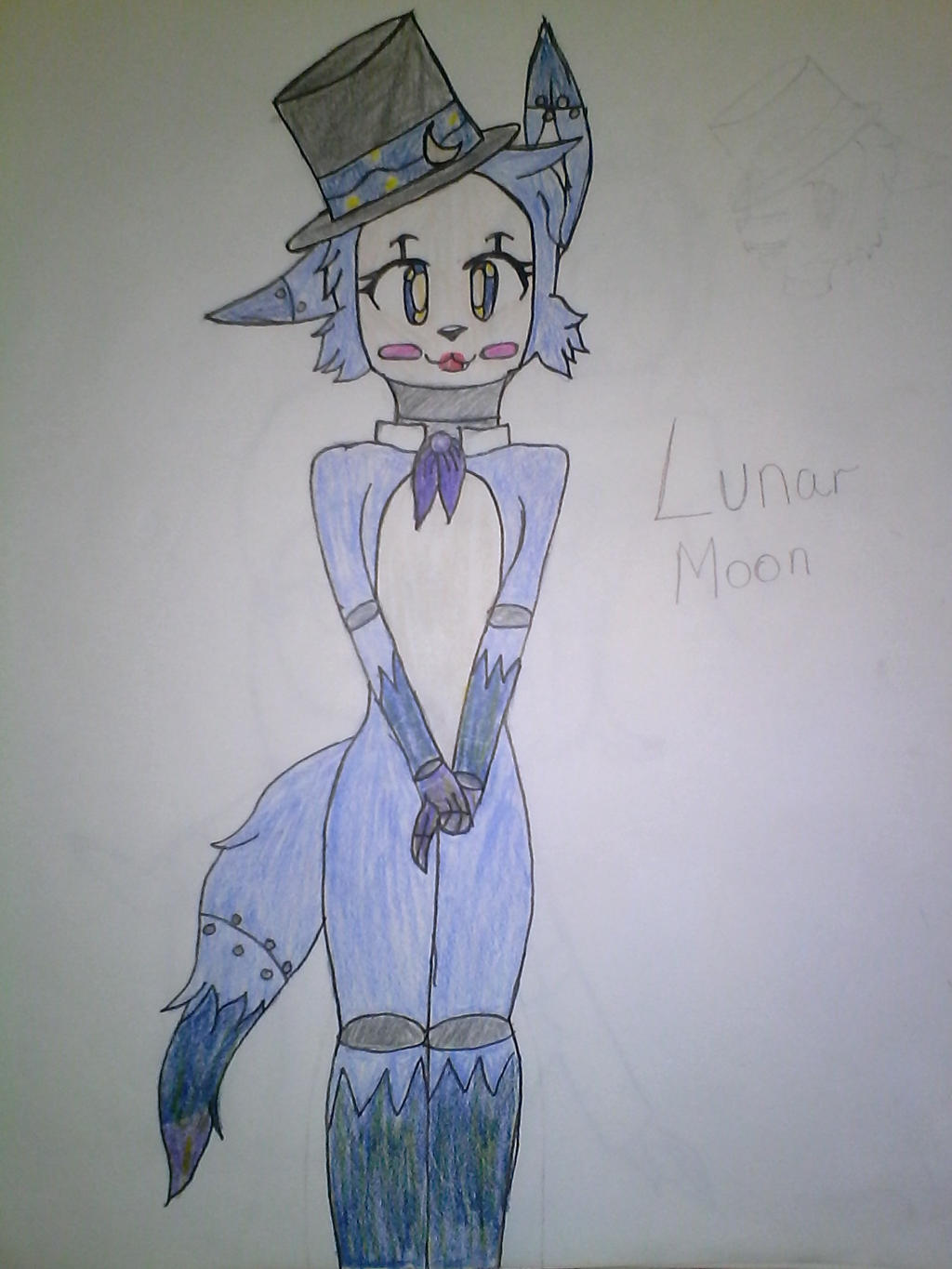 Lunar moon (Ain't she adorable) by Illiterate-Swine