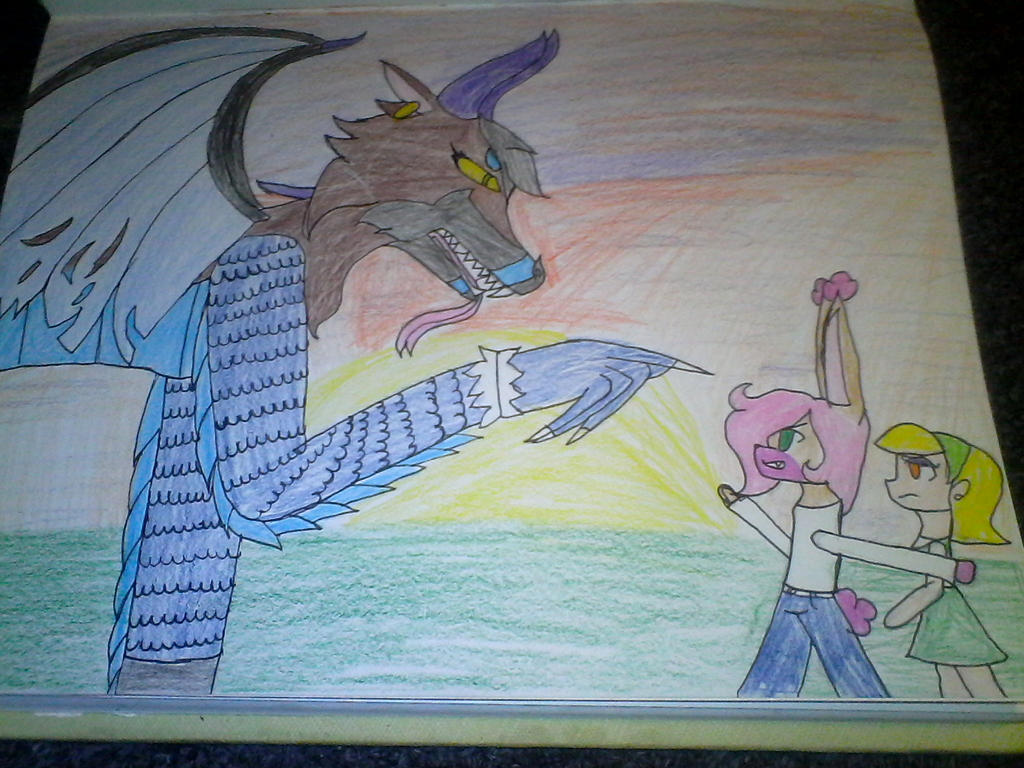 Battle at sunset by Illiterate-Swine
