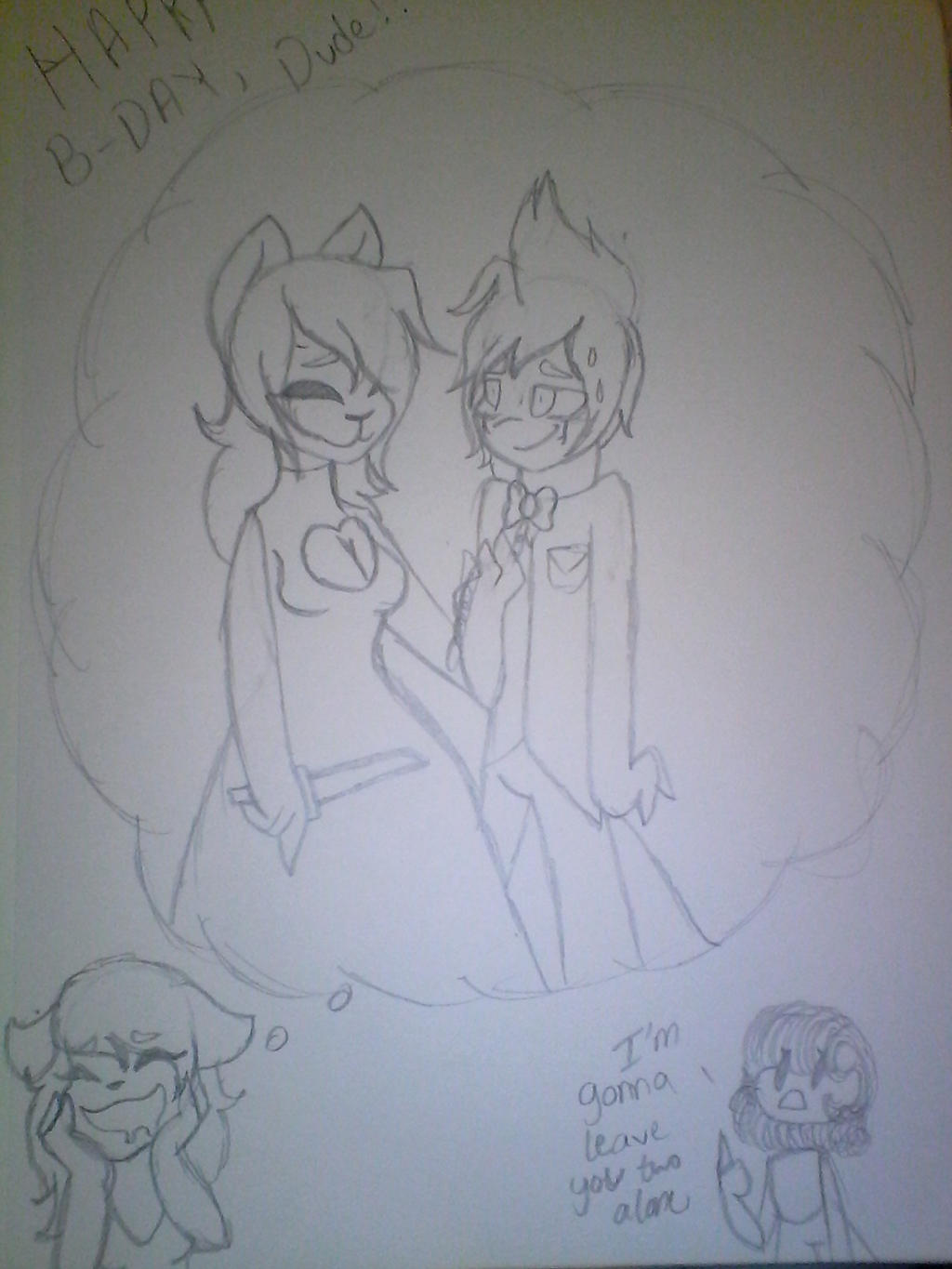 :Gift: The happy couple by Illiterate-Swine