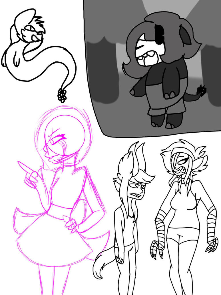 WIPs #1 by Illiterate-Swine