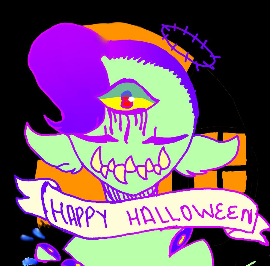 Halloween bean by Illiterate-Swine