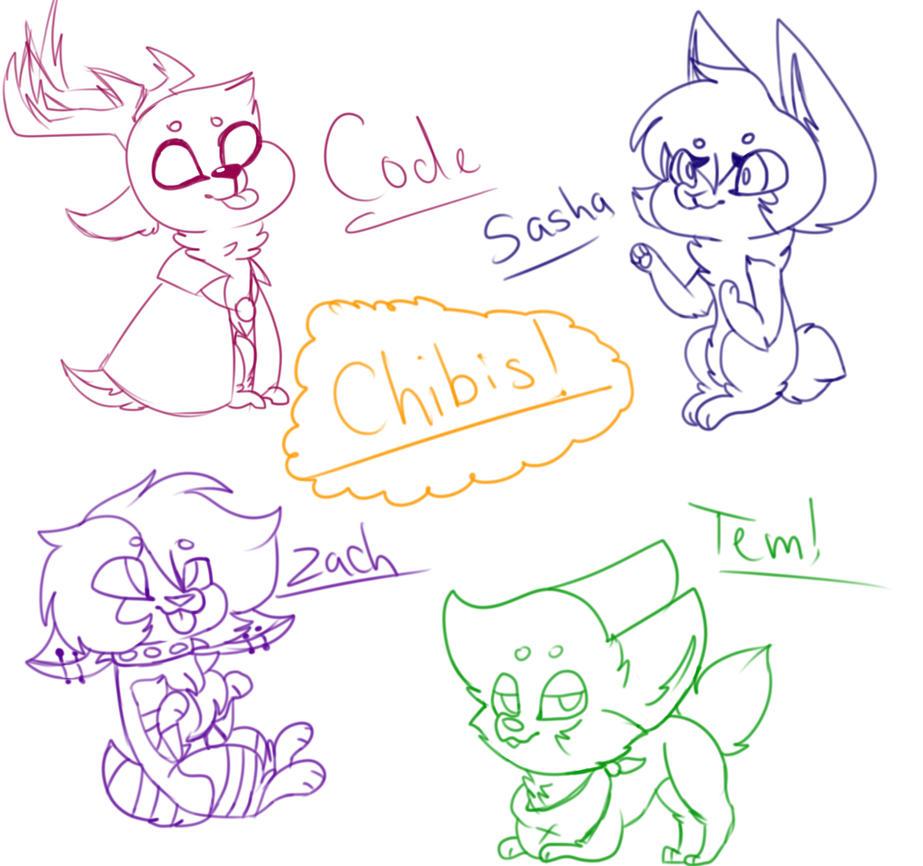 Chibis!! by Illiterate-Swine