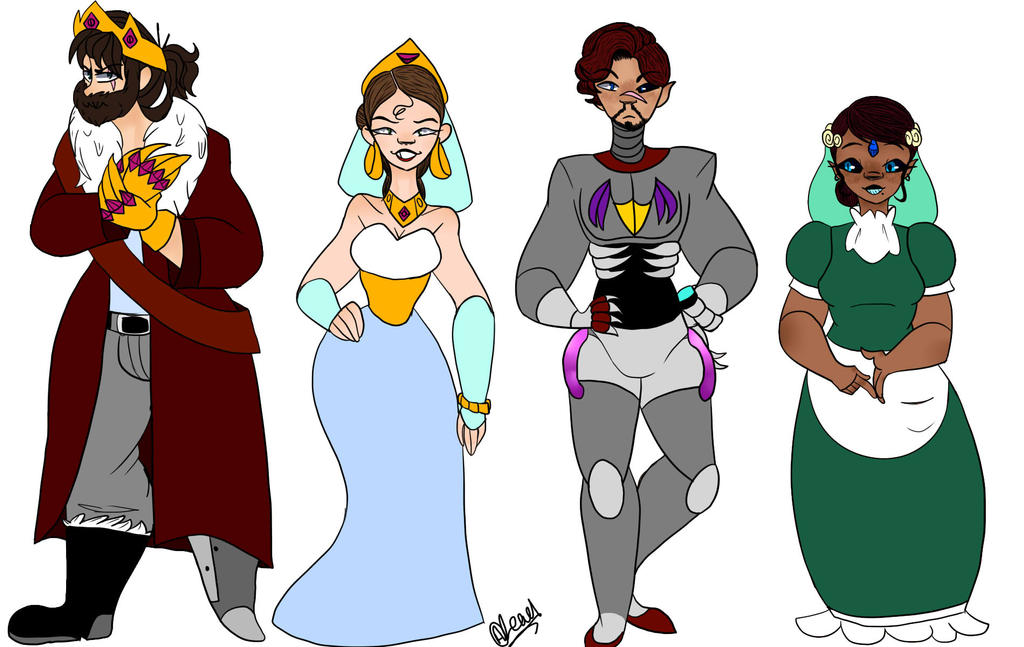 WOC: character lineup 1 (desc for more info) by Illiterate-Swine