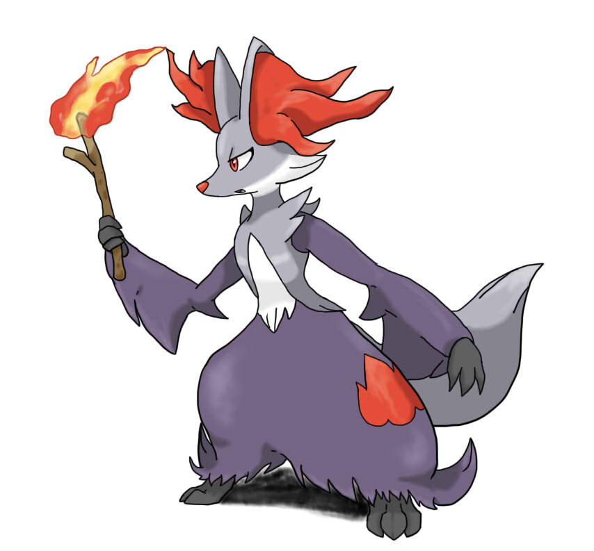 Shiny Delphox by SF-LylatGalaxy64 on DeviantArt