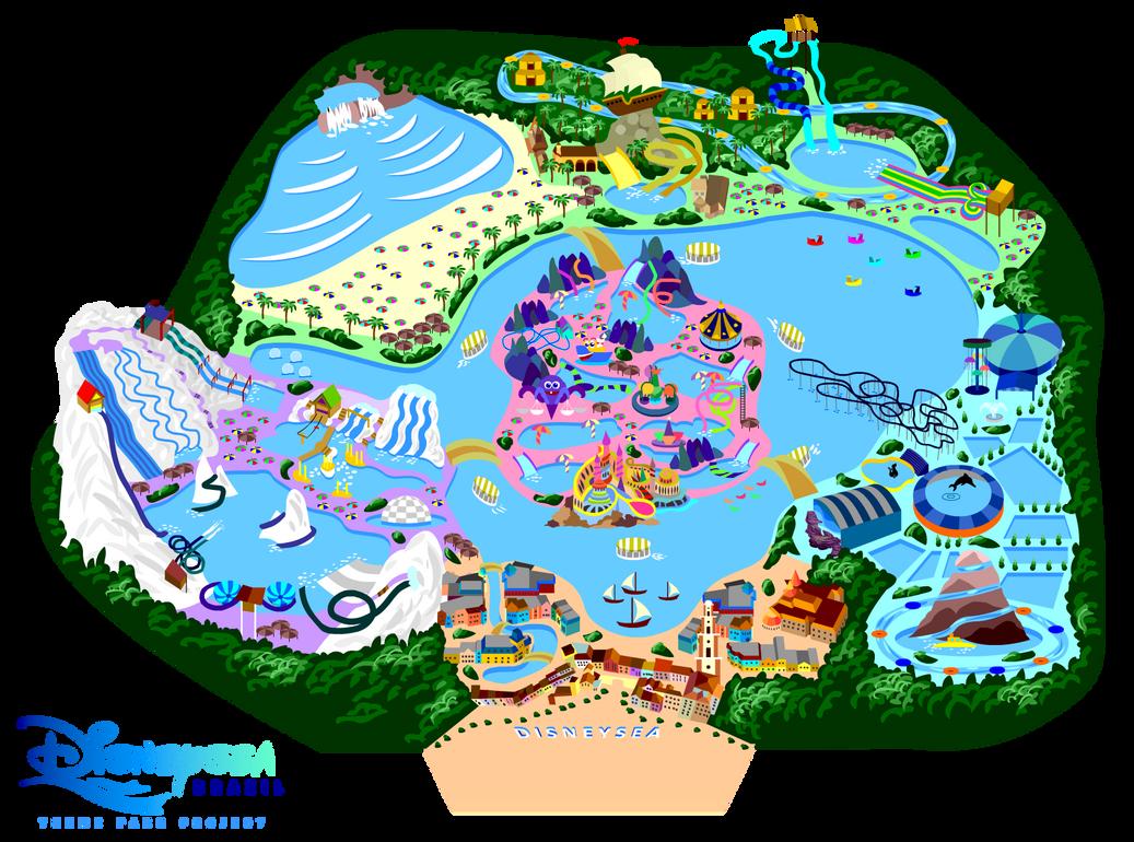 My Disneysea By Mrzahta On DeviantArt - Disneyland brazil map