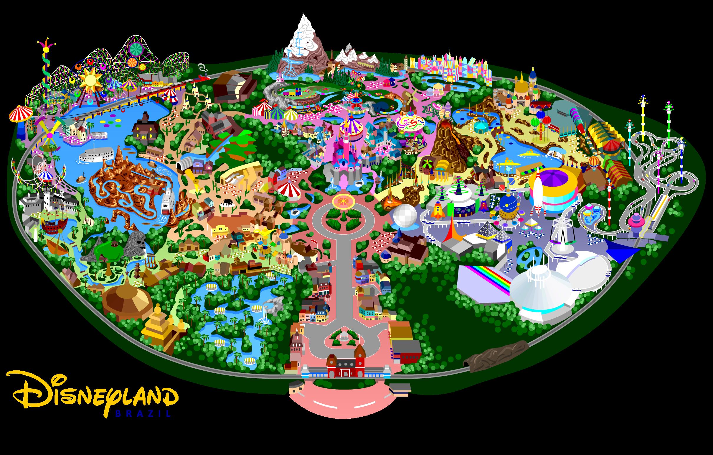 Disneyland By Mrzahta On DeviantArt - Disneyland brazil map