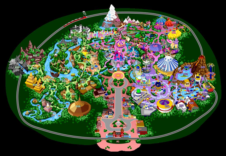 Disneyland 9 0 List Of Attractions By Mrzahta On Deviantart