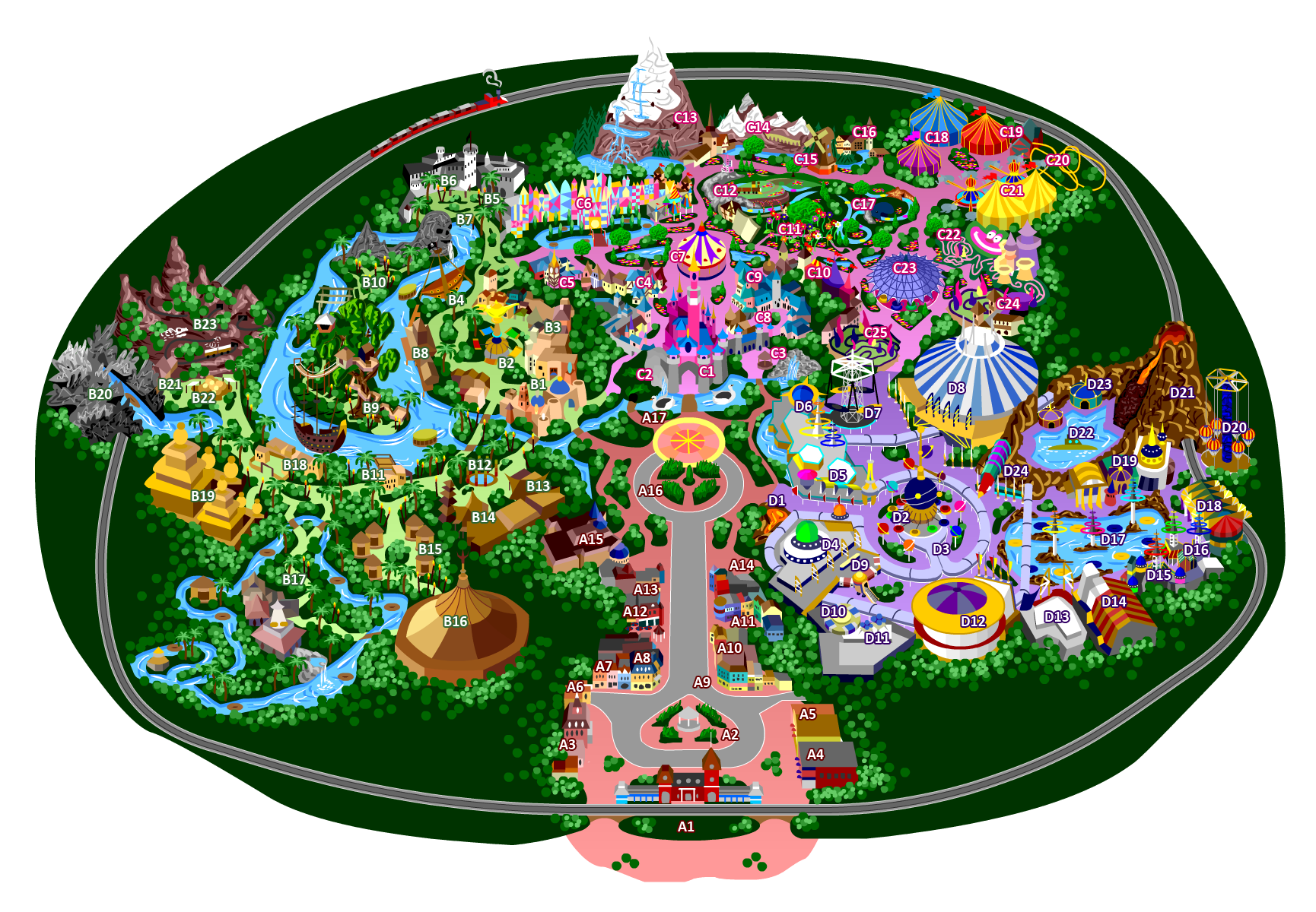 Disneyland 70 by mrzahta on deviantart disneyland 90 list of attractions by mrzahta publicscrutiny Images