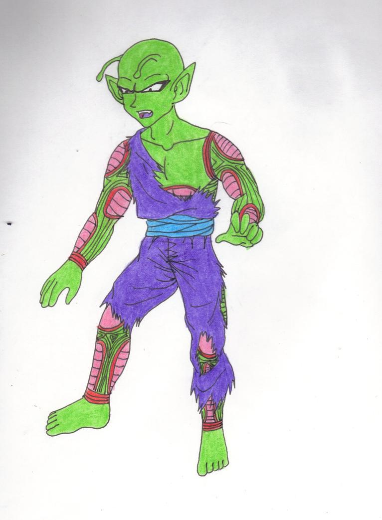 Barefoot Battle Damaged Teen Piccolo Jr. by Ear-Tweak