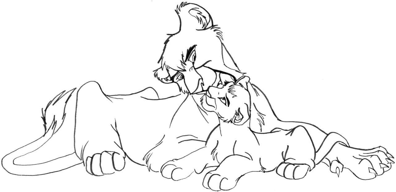 Lion King 2 Vitani And Kopa Coloring