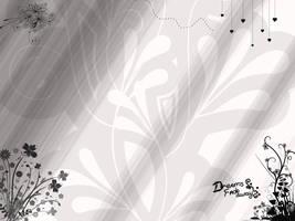 floral b+w wallpaper by haruhi15