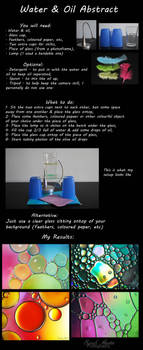 Water and oil abstract tutorial
