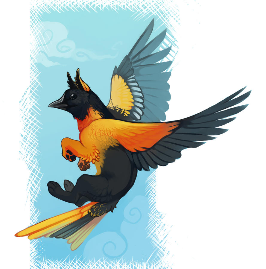 Baltimore Oriole Gryphon By Demicoeur On Deviantart