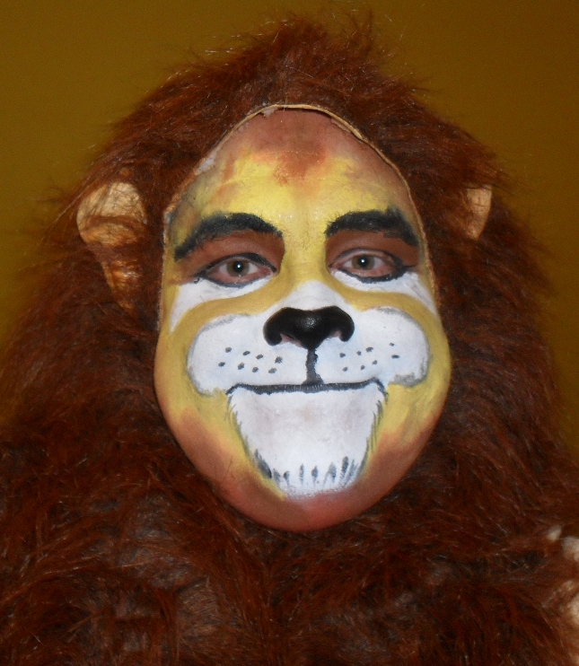 Lion face paint - front by legendbourne on DeviantArt
