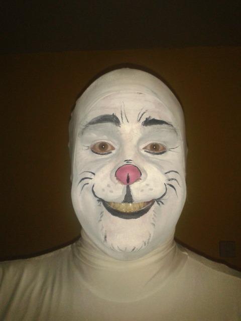 White Rabbit Face Paint Alice Wonderland Face Paint Ideas
