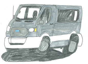 Silver Mini Van by lukio5000