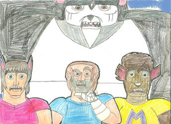 Tony, Det. Baker, Jack and Oscar by lukio5000
