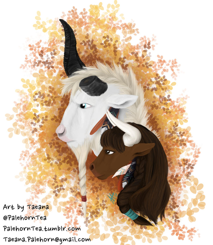 Khar'huk and Taeana by SilverWarden7