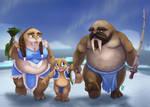 Tuskarr Family by PalehornTea