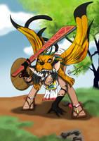 Aztec fairy - jaguar warrior by Amiki-Zorsez