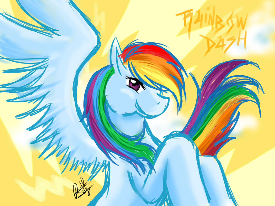 Rainbow Dash by Amiki-Zorsez