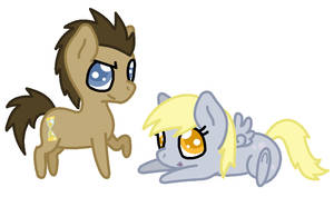 Chibi Doctor and Derpy