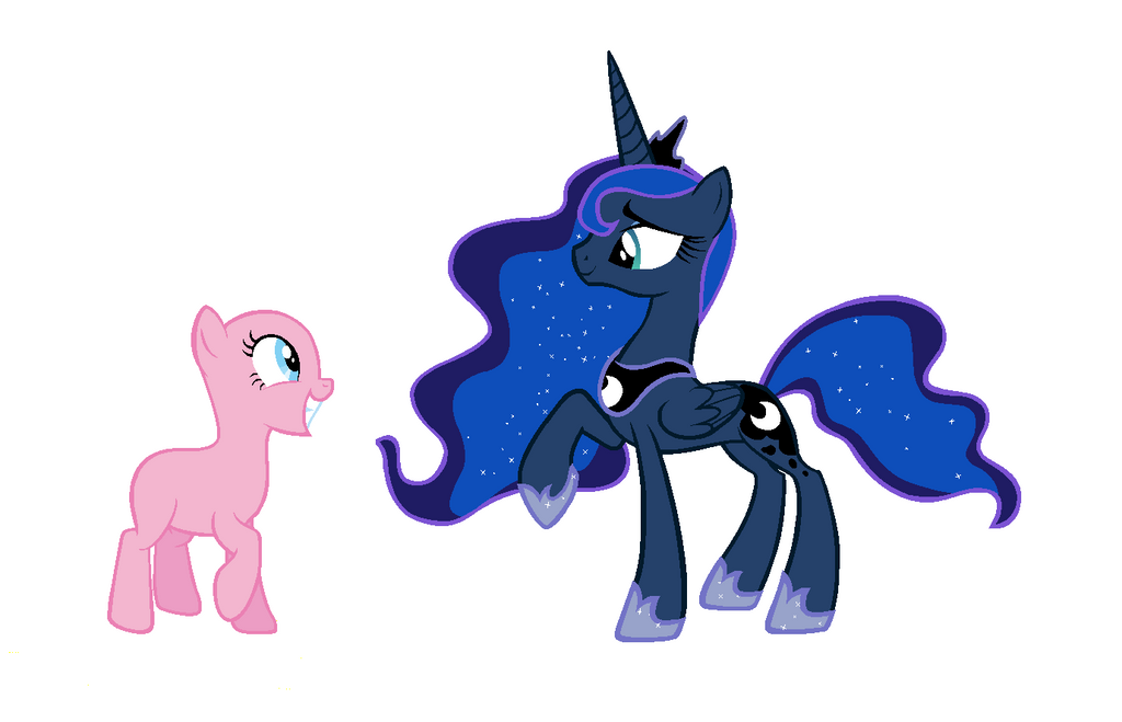 Luna and OC by BlizzardIceFox