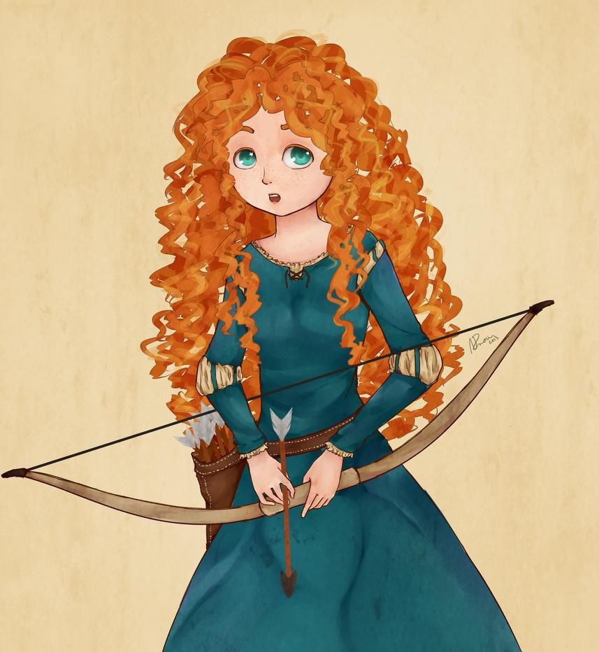 Merida, the Brave by AnitaAmorim