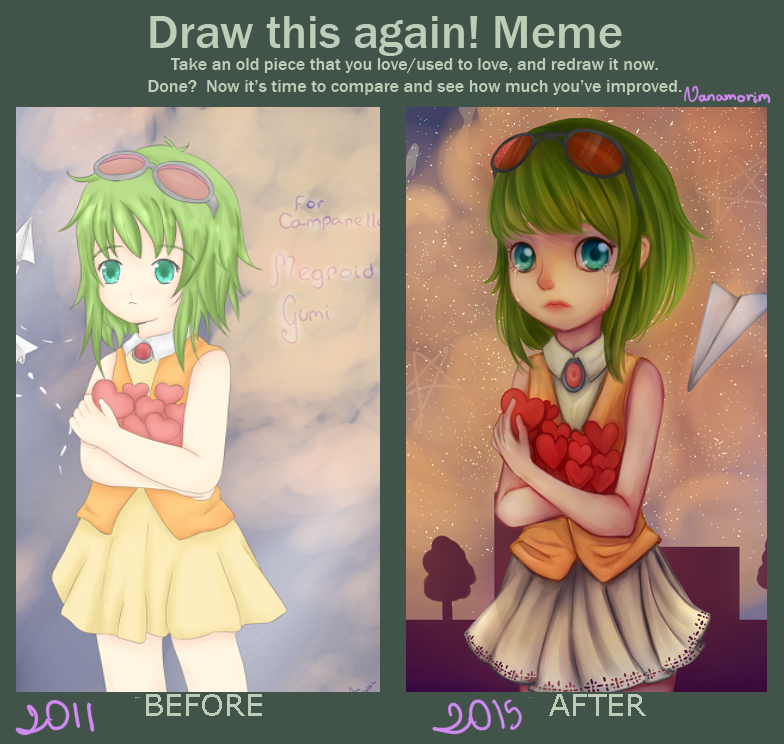 Draw This Again: Gumi by AnitaAmorim