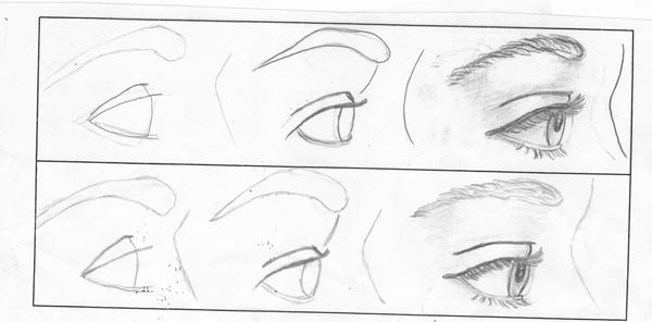 How To Draw A Dog Eye Facing You