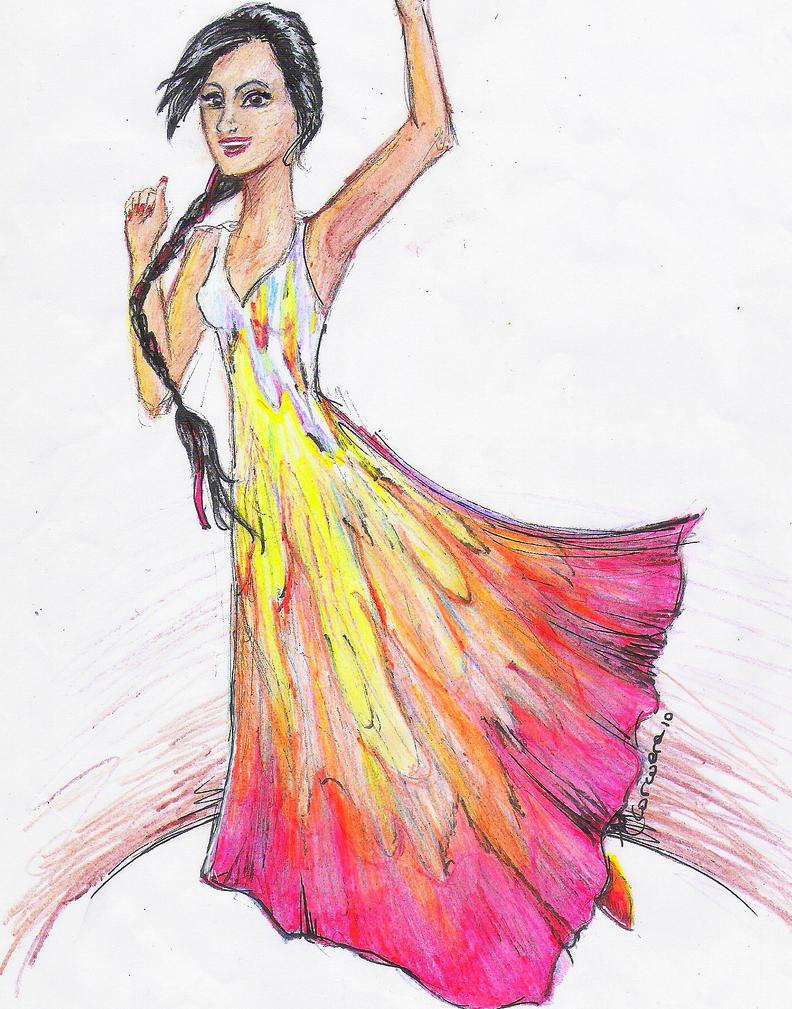 Katniss: twirling for Cinna. by Morpheusdream