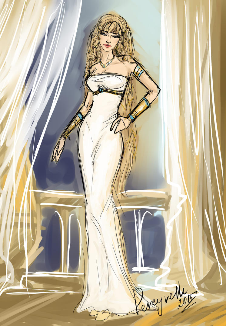 Wedding Dress Tatiana - sketch by Percyvelle