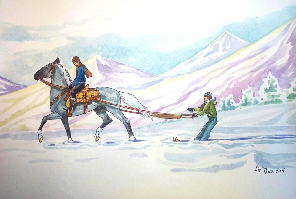 Summer winter games-Difficulties almost at finish2 by Percyvelle