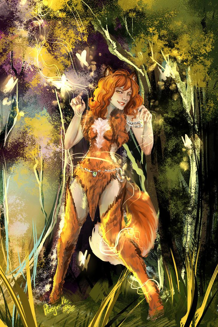 Fox magic - Rufina by Percyvelle