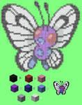 Minecraft Pixel Template - Butterfree