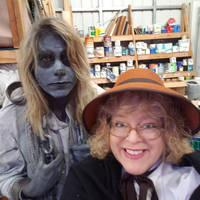 Me and friend Karen in Scrooge Musical