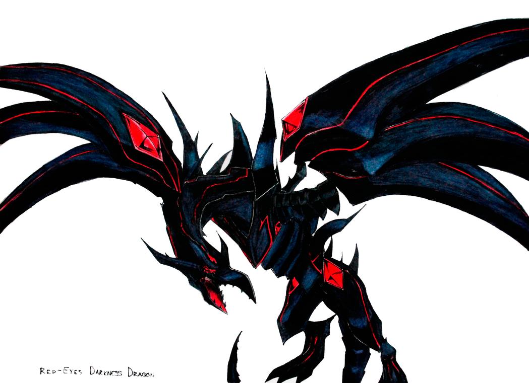 redeyes darkness dragon by gravemind1110 on deviantart