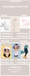 Commission Sheet 2018! by Yokai-Egg90