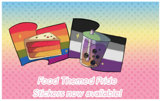 Food Themed Pride Stickers Now Available!