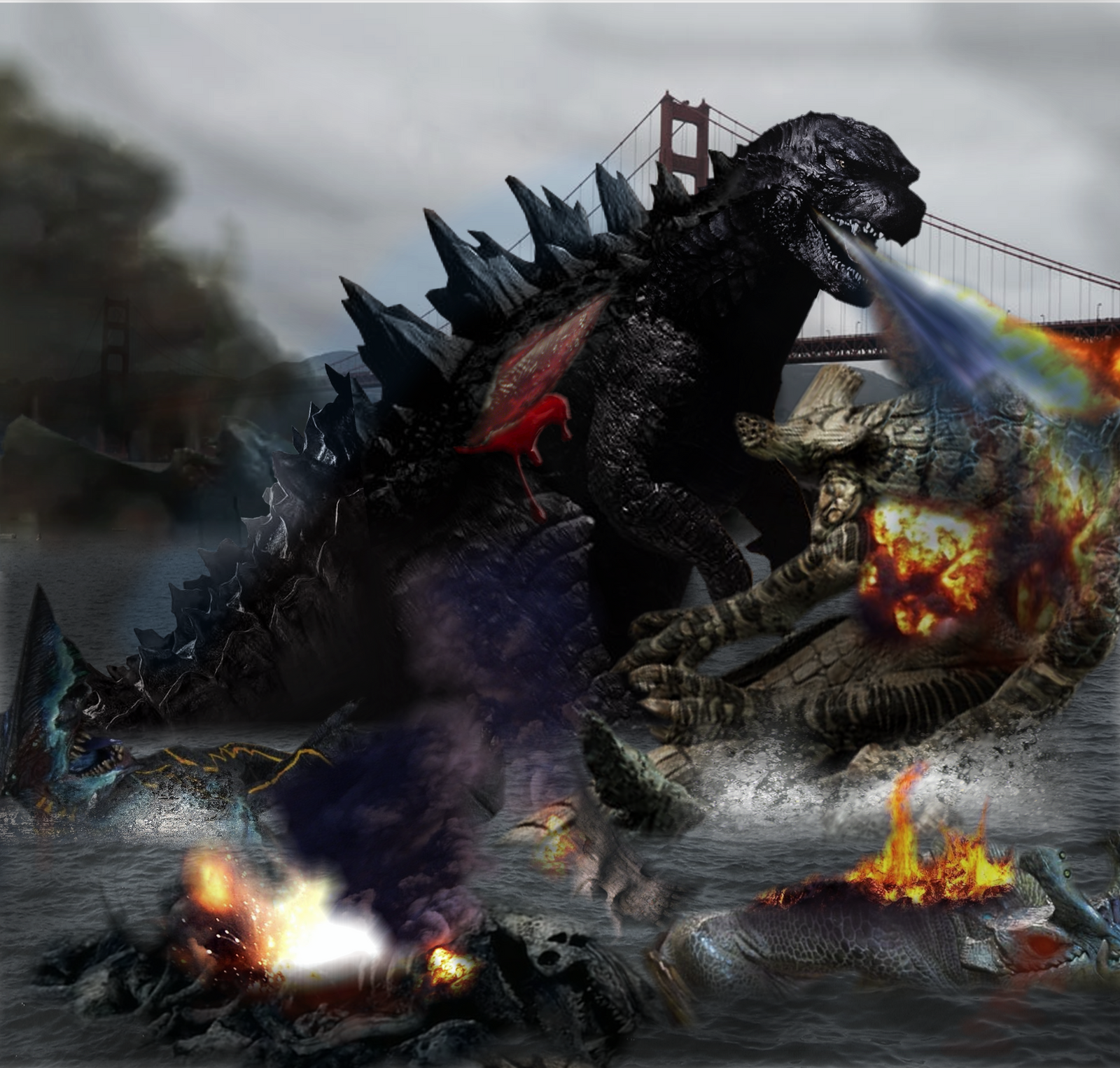 Godzilla vs Pacific rim-eliminate the last dirt by ... Pacific Rim Vs Godzilla