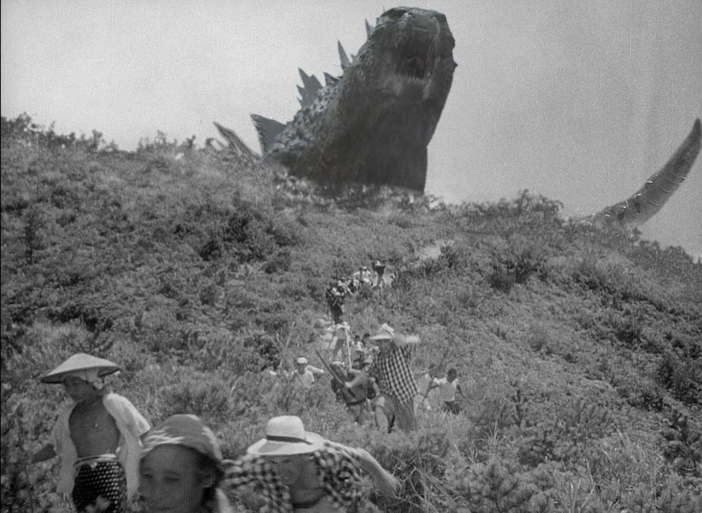 Godzilla 2014reference to 54' by ThrillerzillaArt
