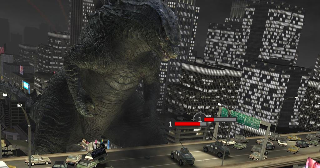 Godzilla mobile game picture by ThrillerzillaArt