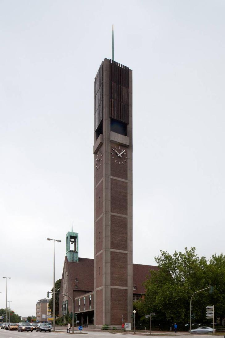 The church in Hamburg-Wandsbek by leongrund