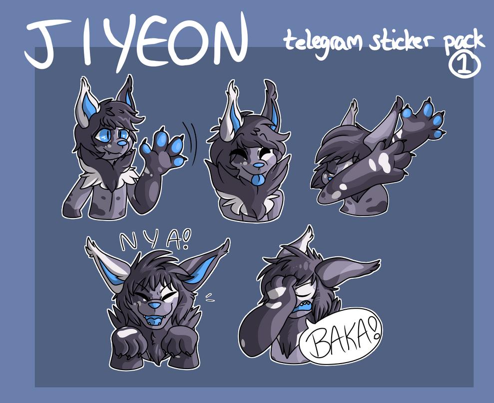 jiyeon telegram sticker pack 1 by arthallea