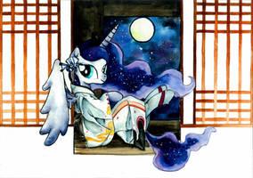MLP Luna Kimono by MashiroMiku