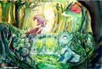 MLP PKM Trixie and Mew by MashiroMiku