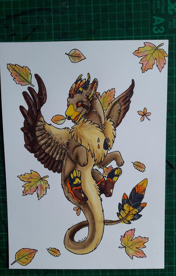 Angeldragon in Autumn by Ariade