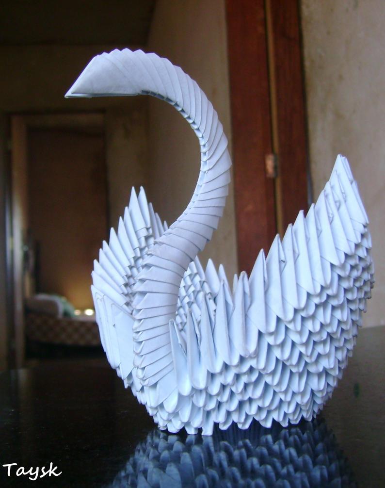Swan 3D - Origami by Taysk